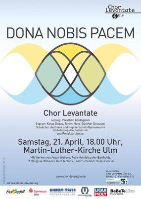 Chor Levantate Ulm, Konzert Dona-nobis-pacem-21April2018-18Uhr-MaLuKi-Ulm